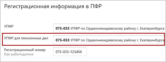 Контур.Экстерн, раздел «Регистрационная информация»