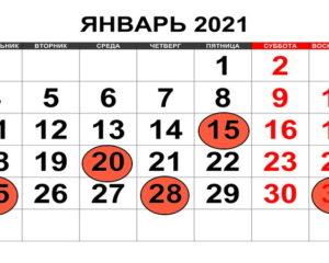 Календарь бухгалтера. Январь